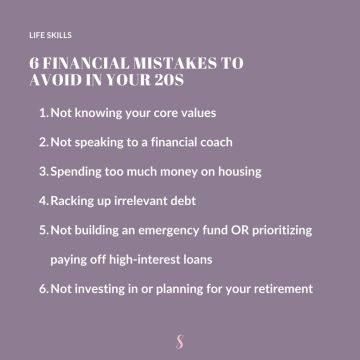 6 Financial Mistakes to Avoid in Your 20s