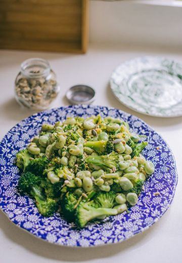 Asian Broad Bean & Broccoli Salad Cover Image
