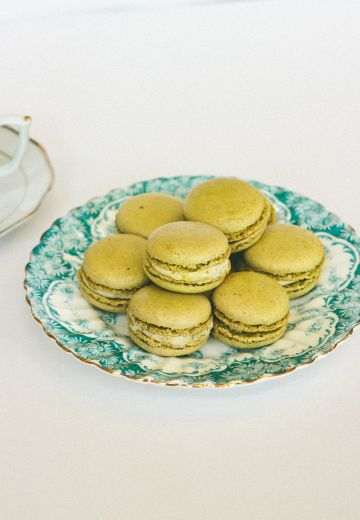Pistachio Macarons with Lemon Cardamom Cream Cover Image