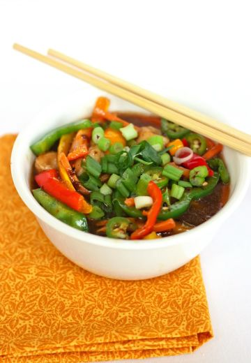 Sweet Pepper and Chicken Stir Fry Recipe Cover Image
