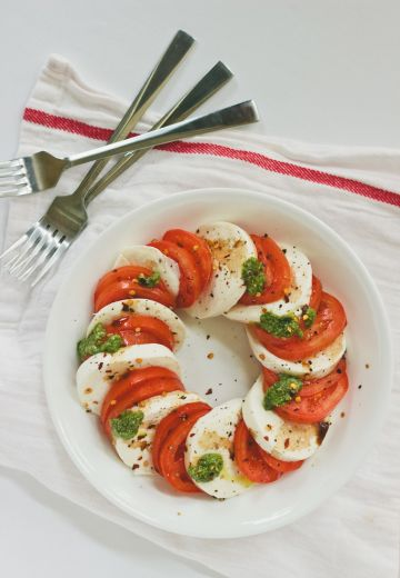 Caprese Salad with Arugula Pesto Cover Image