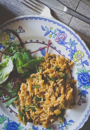 Lubia Polo Recipe: Persian Rice with Lamb and Green Beans Cover Image
