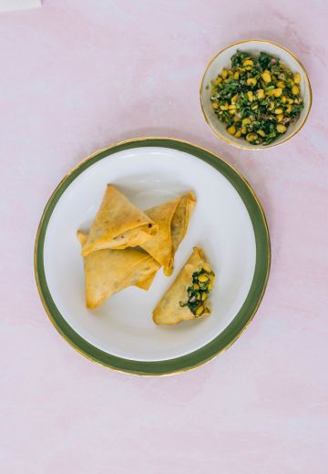Herby Chickpea Samosas Recipe Cover Image