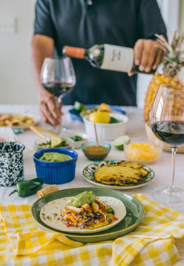Chipotle Chicken Tacos Recipe & Mexican Food Wine Pairings Cover Image