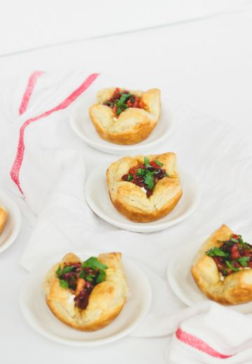 Goat Cheese Cups with Sundried Tomato-Kalamata Tapenade Cover Image