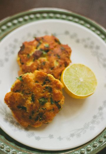 Indian Style Salmon Cakes Recipe Cover Image