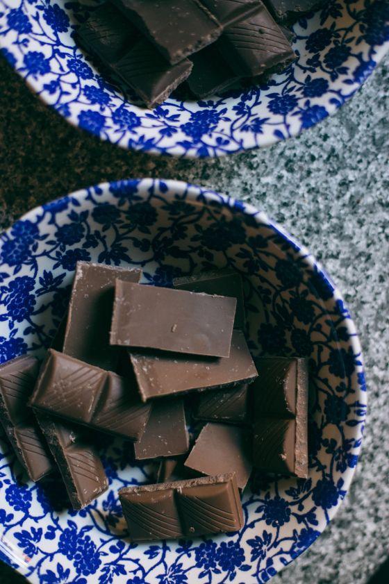 dark chocolate peppermint slices