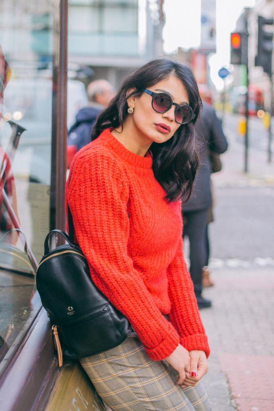A Cozy Sweater & Plaid Pants