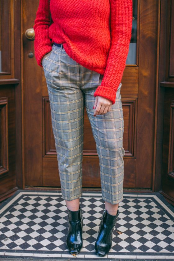 A Cozy Sweater & Plaid Pants