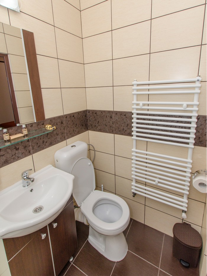 Private bathroom in the first floor large balcony double room