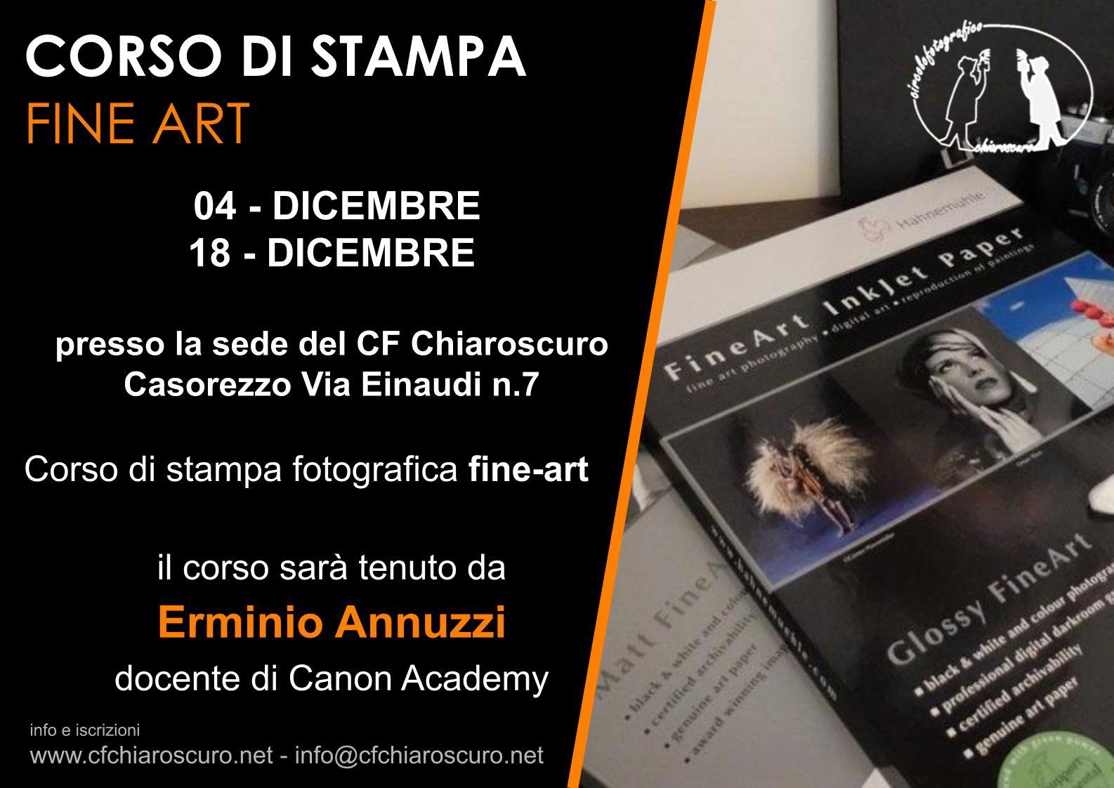 CORSO DI STAMPA FINE-ART