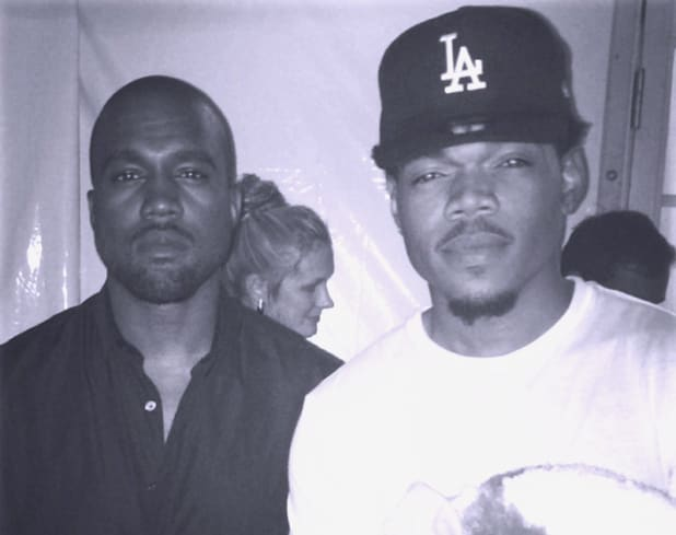 Kanye West with Chance The Rapper.