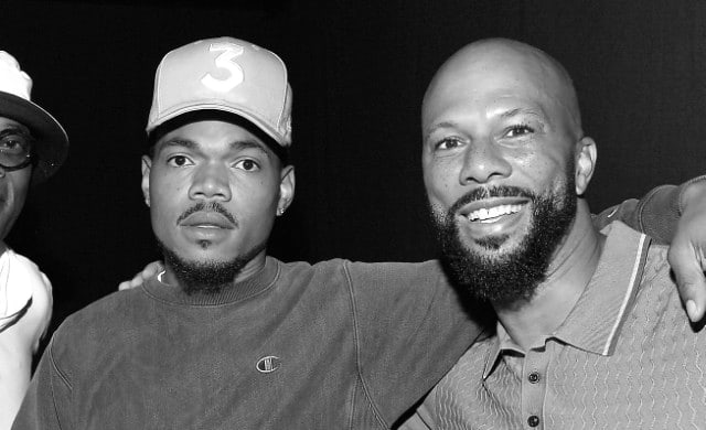 Chance The Rapper with Common.