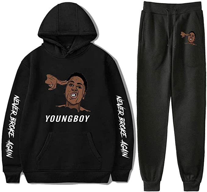 YoungBoy Never Broke Again hoodie and sweatpants.