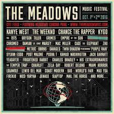 Meadows Festival Lineup 2016.