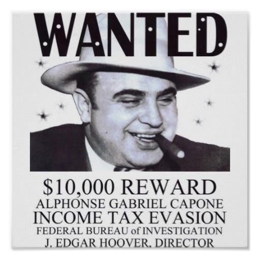 Al Capone Chicago Reward.