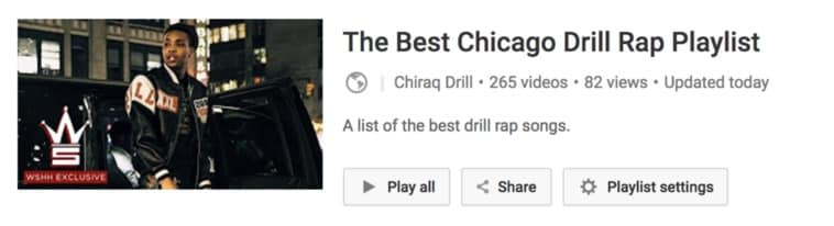 Chicago Drill Rap Playlist