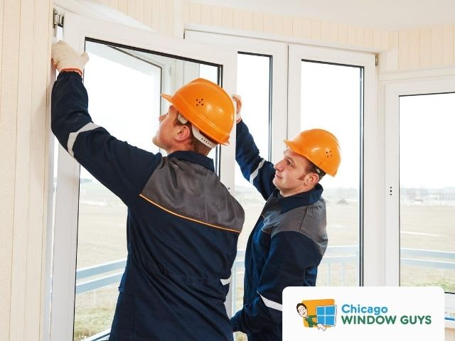 Professionals replacing windows