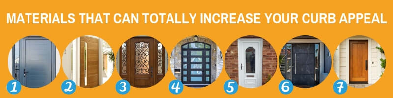 Materials Than Can Increase Your Curb Appeal When Changing Your Front Door