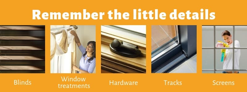 Remember ittle details when window cleaning