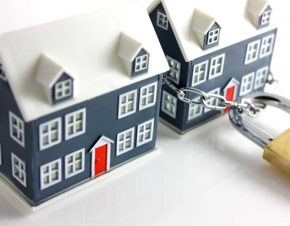 Lock securing a home
