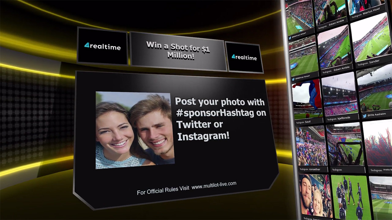 Live Interactive 3D Video Sweepstake
