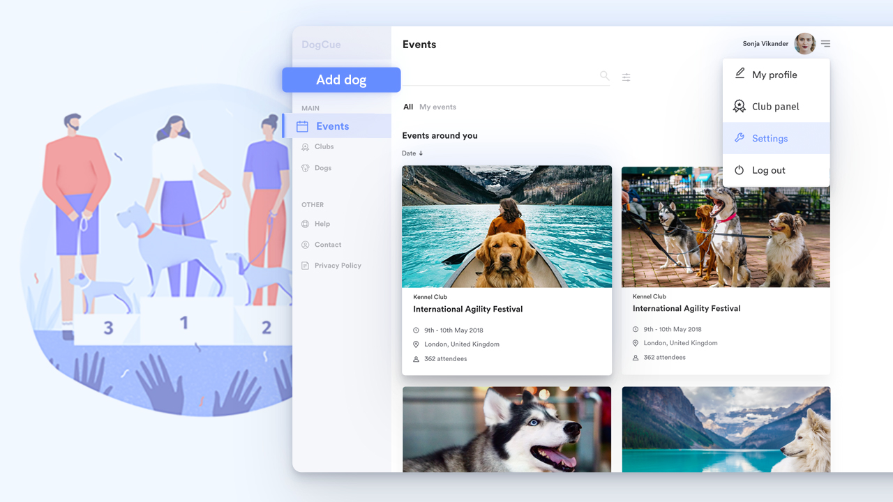 Custom Management Platform for Dog Clubs