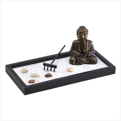 miniature zen garden buddha figurine