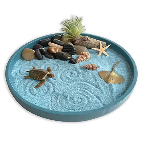 mini Zen garden with blue sand
