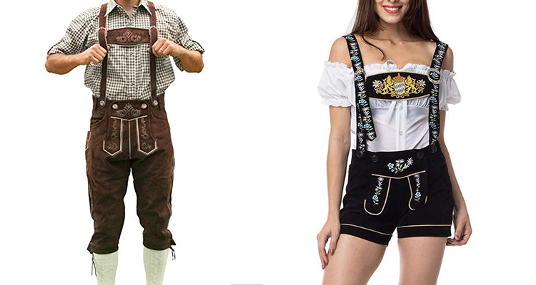 lederhosen men lady