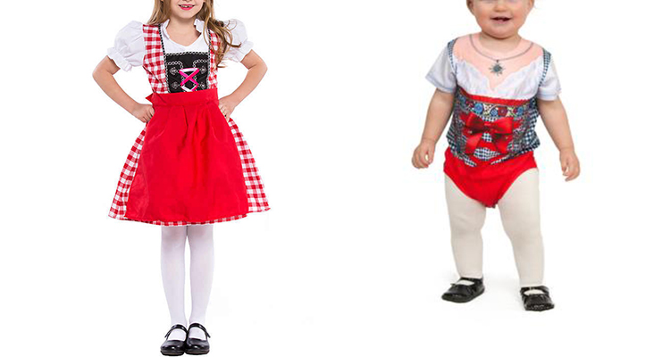 bavarian costume for kids and babies