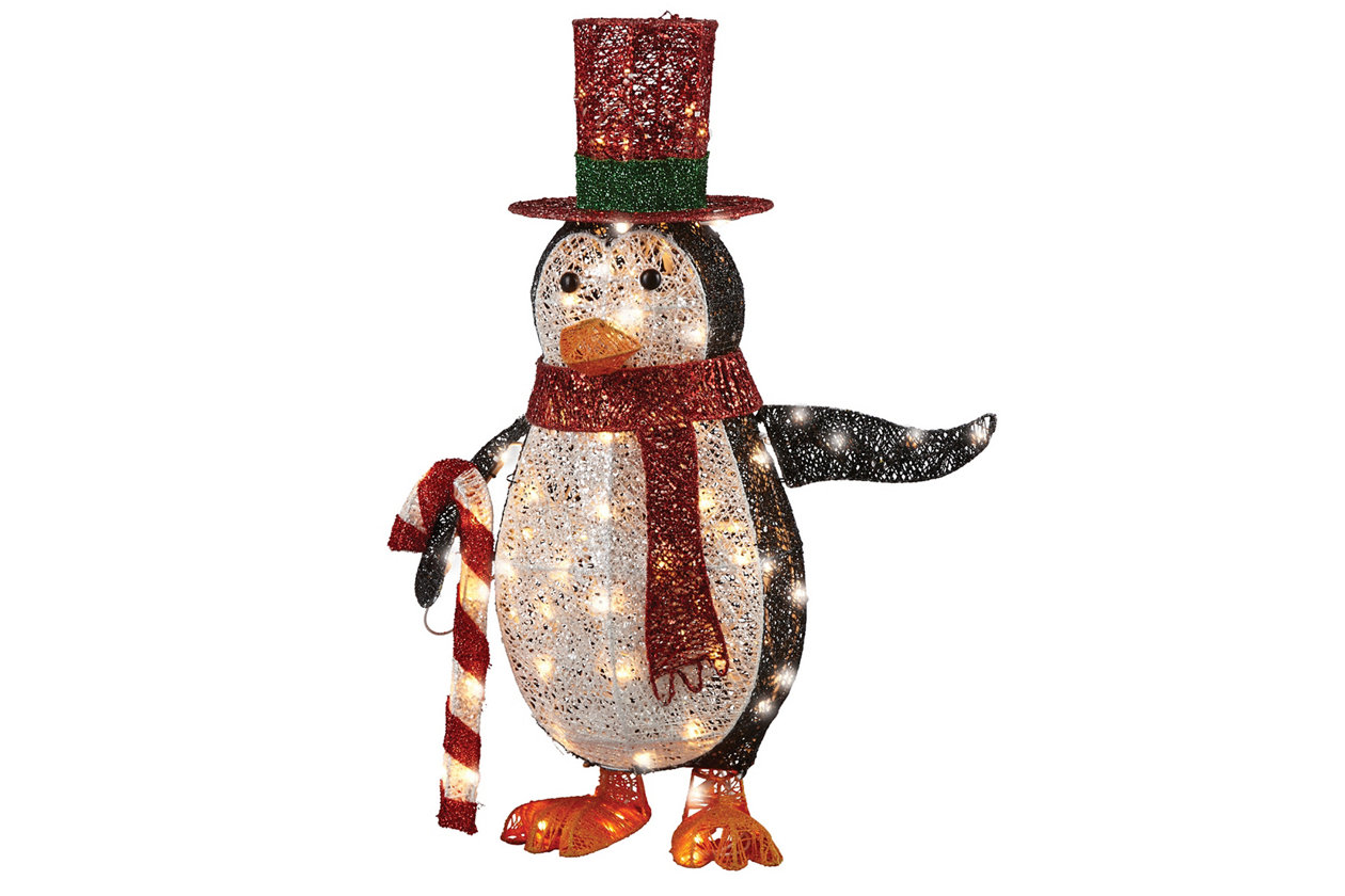 fun products 2021 Christmas penguin lighted display