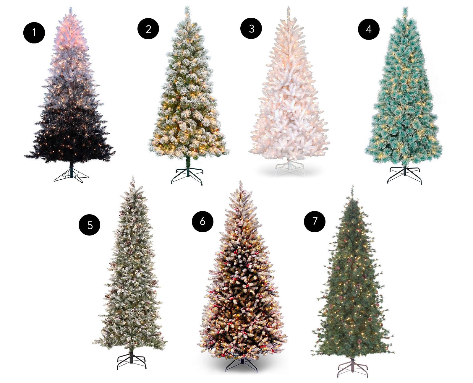 slim Christmas trees decor