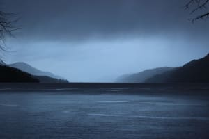 Rain storm over Loch Ness, United Kingdom