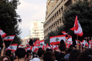 Beirut protests 2019 - Via Wikimedia Commons