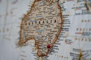 The map of Australia.