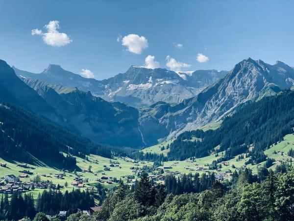 The landscape around Adelboden, Switzerland