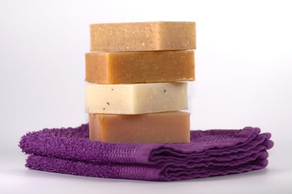 A stack of soap bars