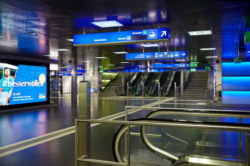 Empty train station - Zurich