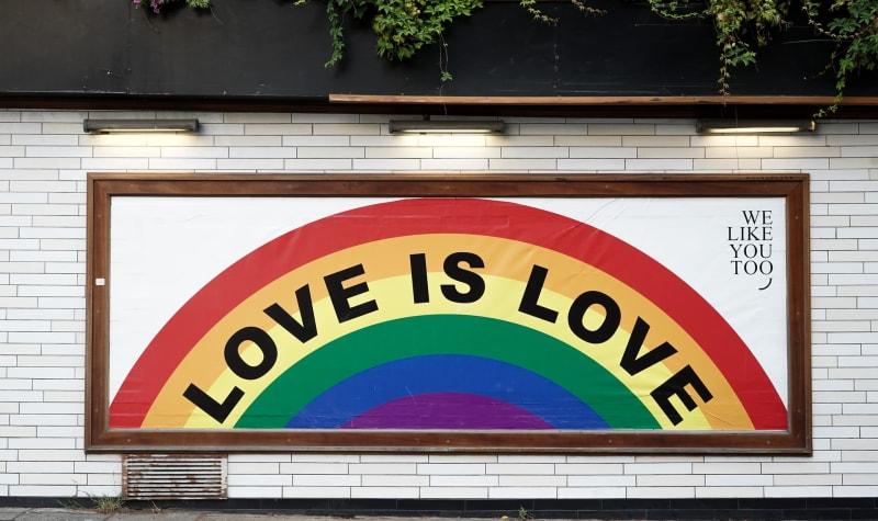 """""""Love is love"""" mural"""