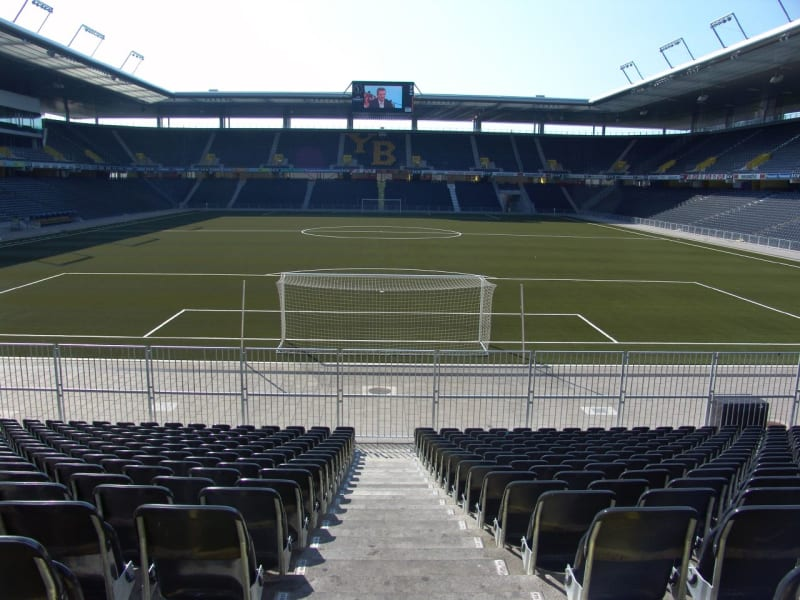 An empty Stade de Suisse in Bern, Switzerland