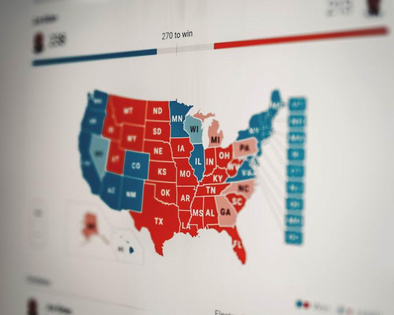 Nach langem Warten gewann Joe Biden die meisten Wahlmänner.