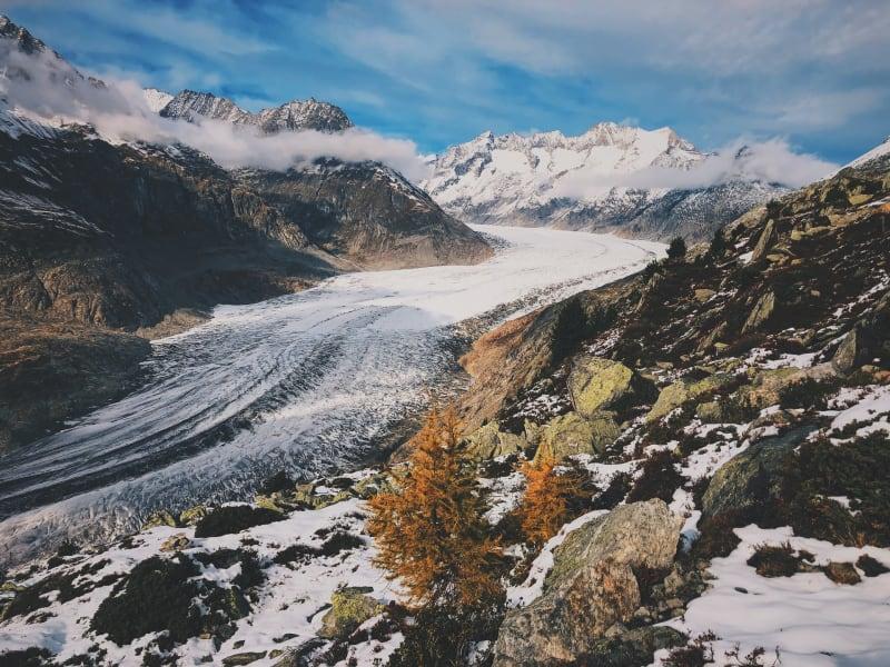 Der wunderschöne Aletschgletscher
