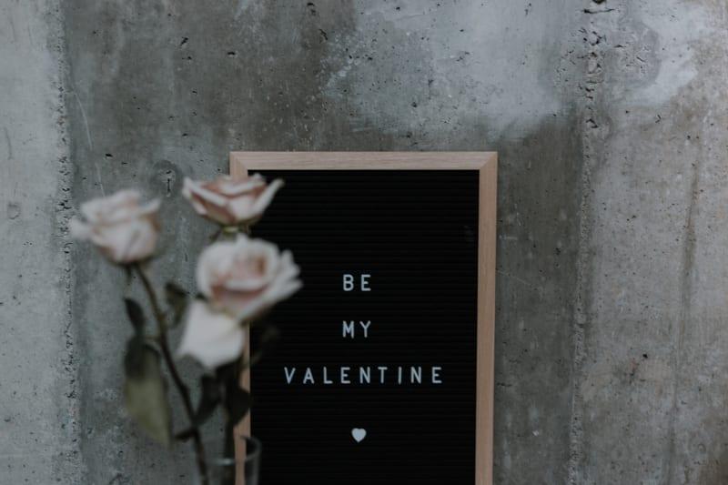 Romantisches Bild zum Valentinstag