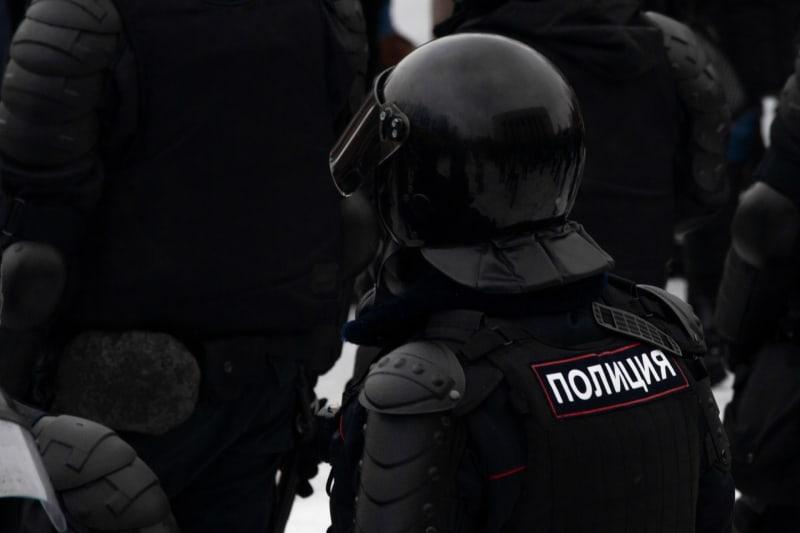 Protest gegen die illegale Verhaftung des russischen Oppositionsführers Alexey Navalny