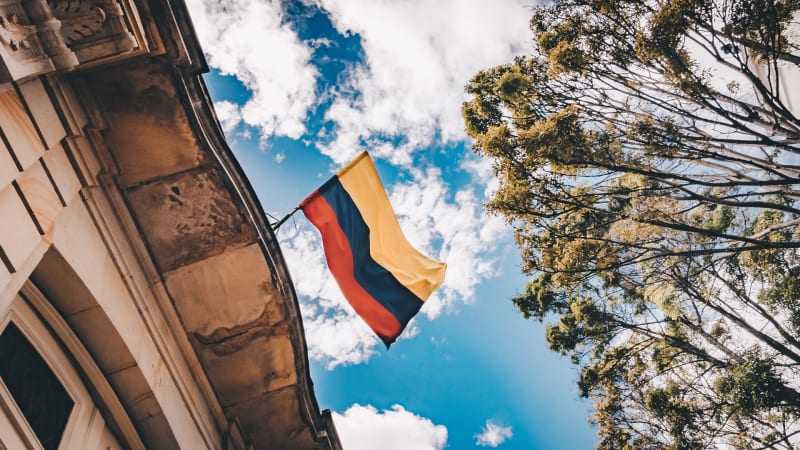 Das Bild zeigt die Flagge von Kolumbien