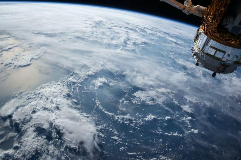 Die Erde aus sich vom Weltall