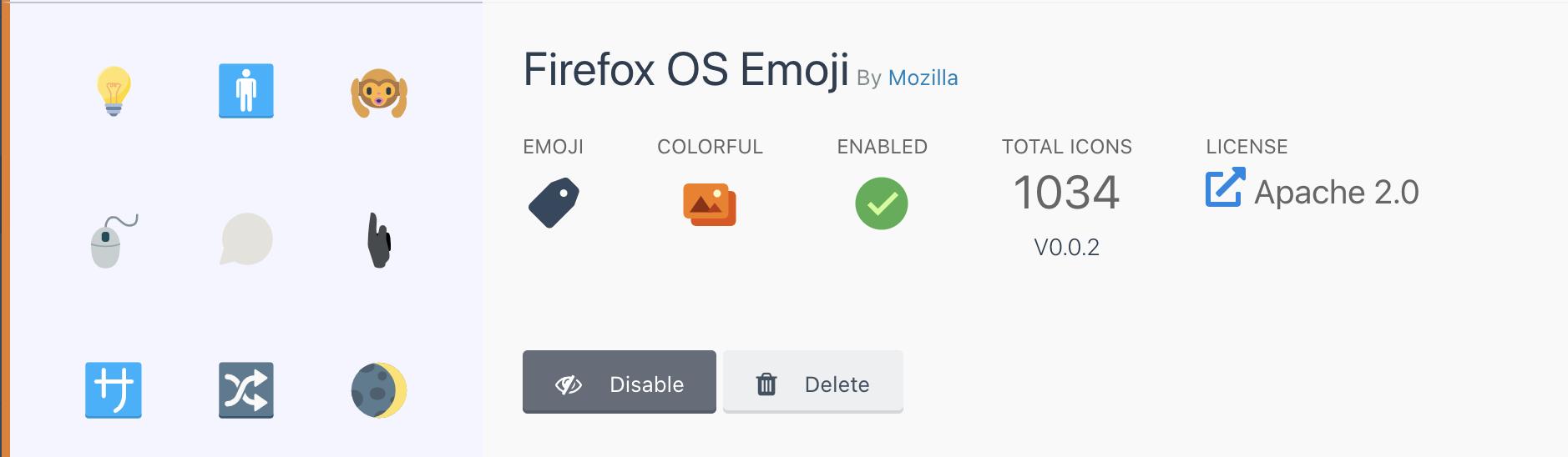 Enable icon set