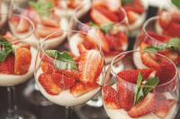 Catering Dessert Erdbeeren im Glas