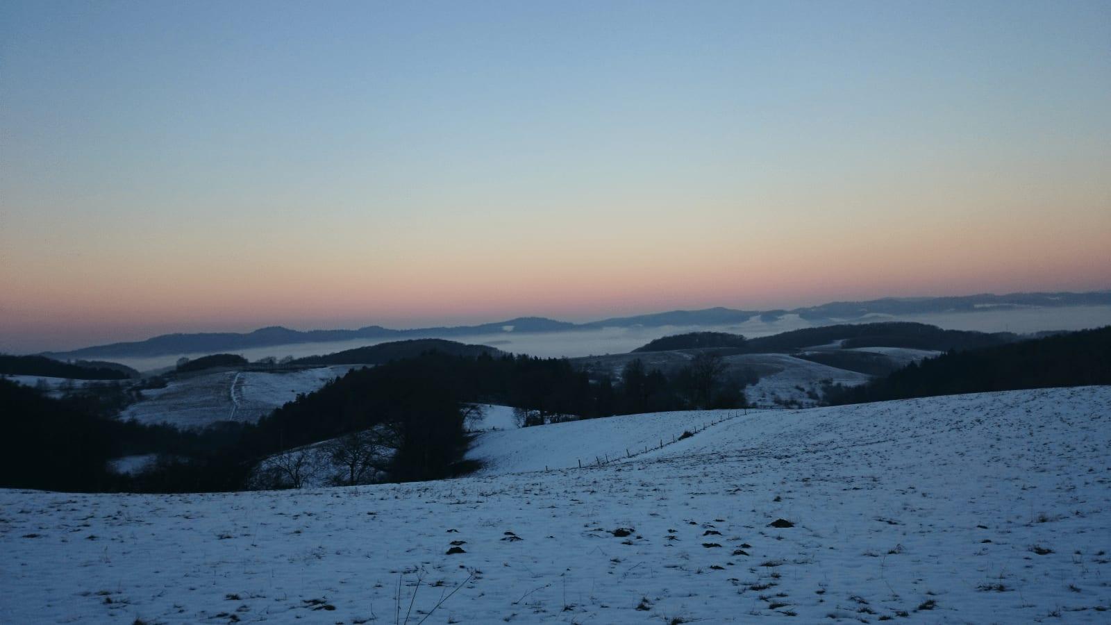 Schule Craniosacral Healing Ausbildung + Kurse Vöckelsbach Winterpanorama Winter
